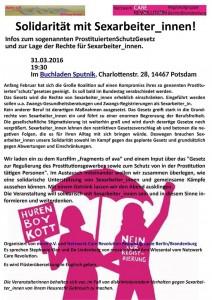 Solidarität mit Sexarbeiter_innen - 31. 03. 2016